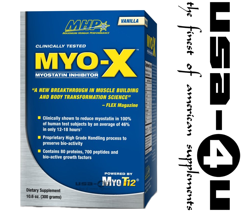 Foto of MHP Myo-X Myostatin Inhibitor Maximum Human 	   Performance